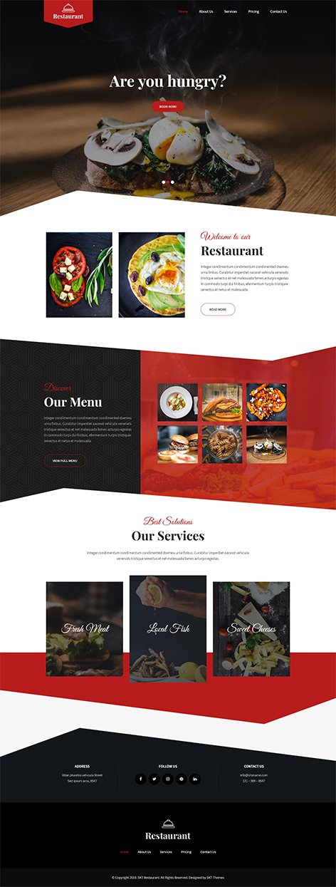 Free Food Ordering WordPress Theme