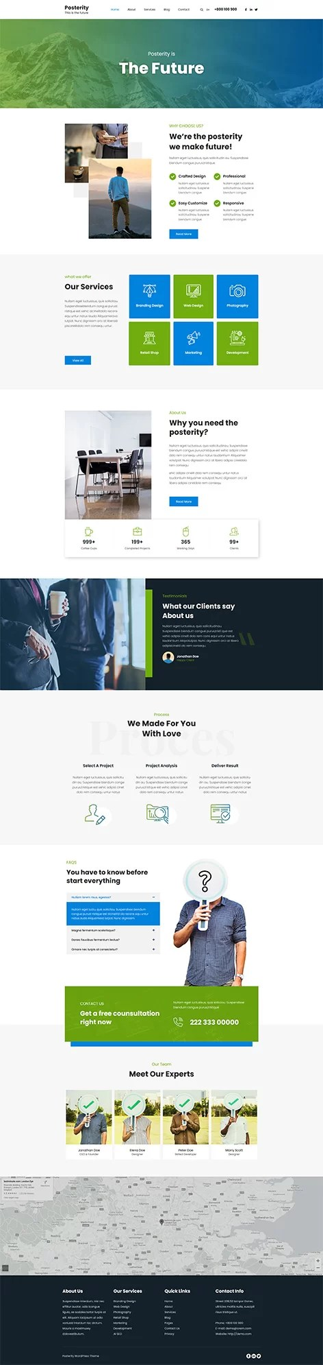 most customizable free WordPress theme