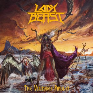 "Lady Beast : ""The Vultures Amulet"" LP & CD & Digital 14th April 2020 Reaper Metal Productions."