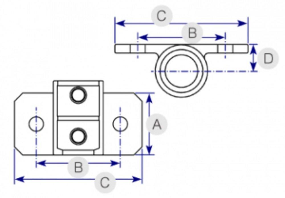medium resolution of horizontal railing base 246