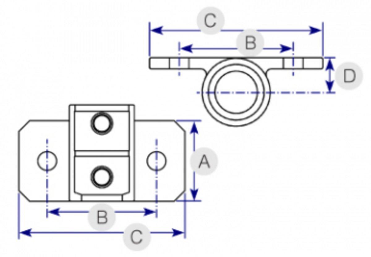 hight resolution of horizontal railing base 246