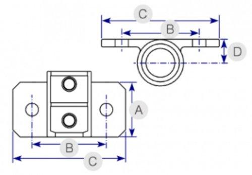 small resolution of horizontal railing base 246