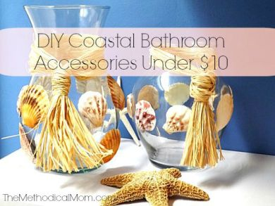 DIY Coastal Bathroom Accessories-Themethodicalmom