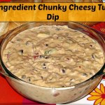 7 ingredient Chunky cheesy tuna dip