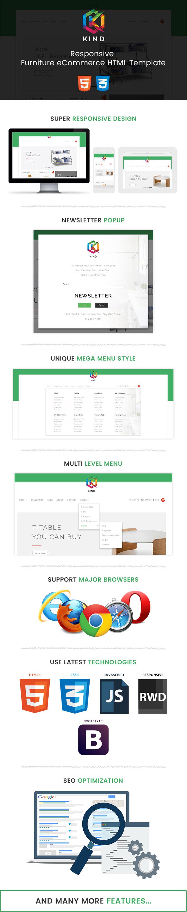 Kind - Responsive Furniture/Interior Bootstrap eCommerce HTML ...