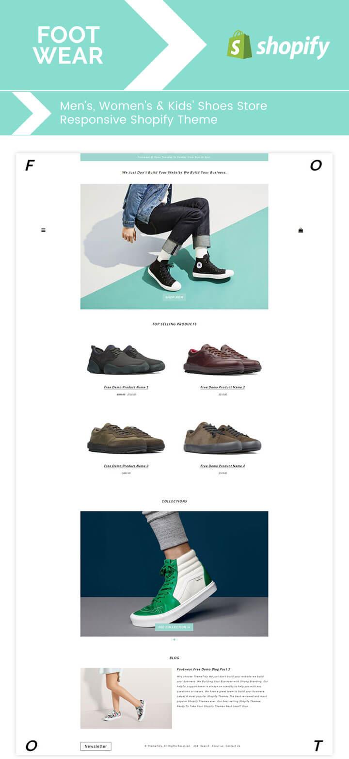 Footwear Men's, Women's & Kid's Shoes Store Responsive Shopify Theme