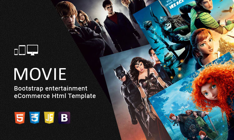 Movie - Bootstrap entertainment eCommerce Html Template   ThemeTidy