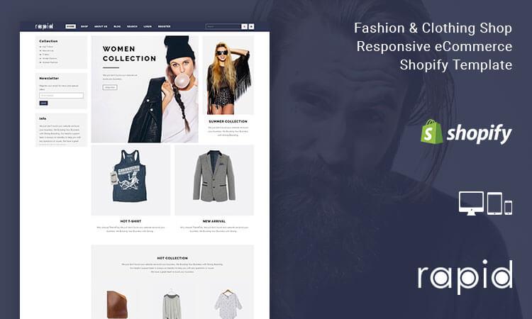 Rapid - Fashion & Clothing Shop Responsive eCommerce Shopify ...