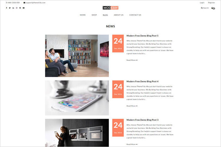 Using Shopify Ecommerce Blog Page Layout In Your Themes Templates - Shopify page templates