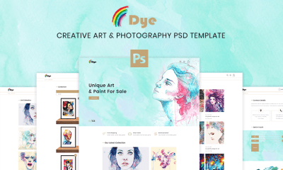 Dye – MultiPurpose Creative Art & Photography PSD Template