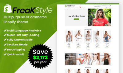Freak - Fashion Shopify Theme Multipurpose Responsive Template