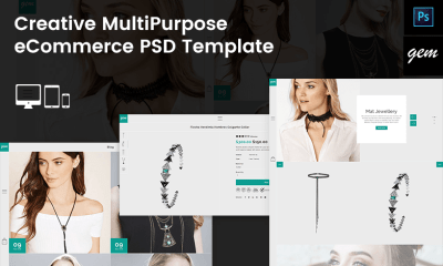 Gem – Creative MultiPurpose eCommerce PSD Template