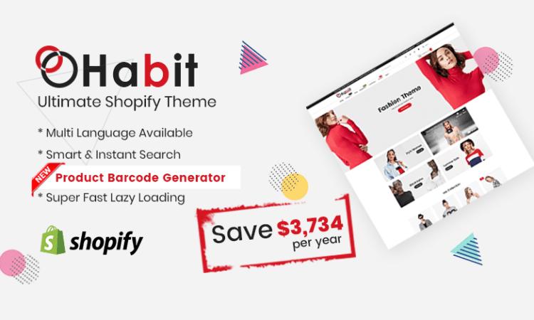 Habit - Fashion Shopify Theme Multipurpose Responsive Template