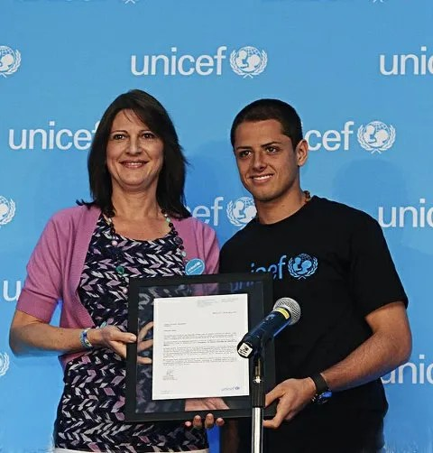 "Javier ""Chicharito"" Hernandez Unicef Ambassador of Mexico"