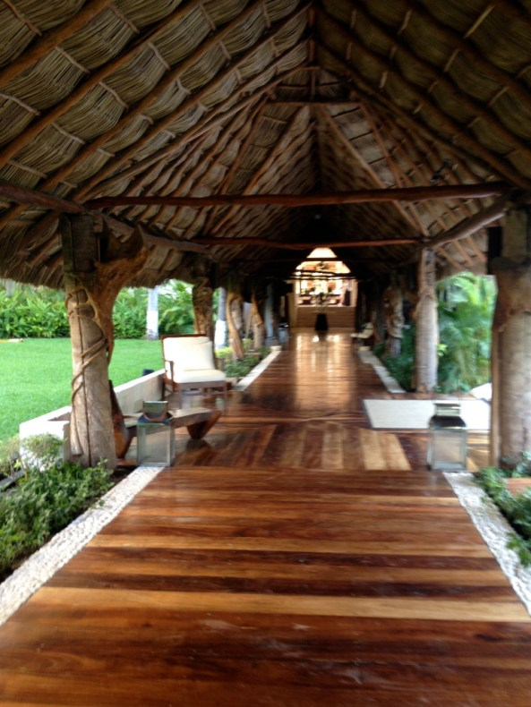 Thatched walkway at Occidental Puerto Vallarta (2/25/15) photo ©The Mexico Report
