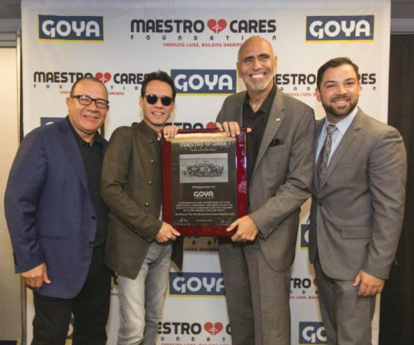 Goya Foods Donates to  Marc Anthony and Henry Cardenas' Foundation, Maestro Cares Orphanage in Toluca, Mexico
