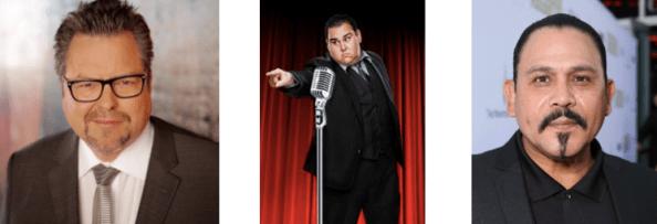 Comedians Rick Najera, Momo Rodriguez and actor Emilio Rivera