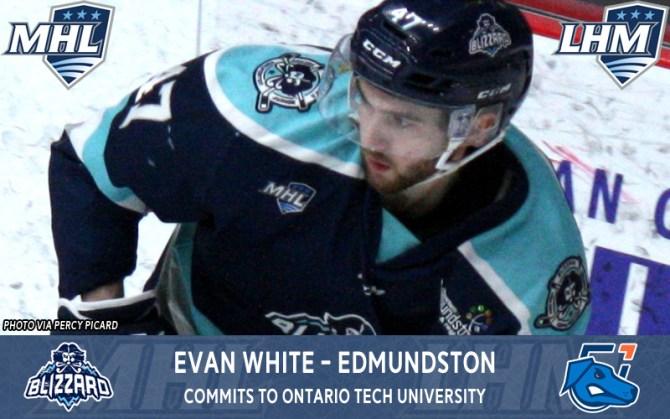 White commits to Ontario Tech University | Maritime Junior Hockey ...