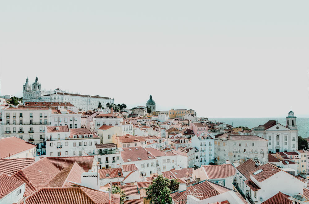View of the city landscape of Lisbon, Portugal