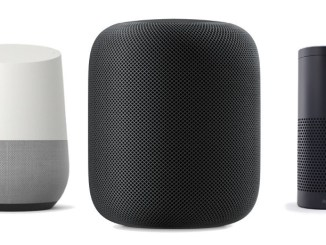 Amazon Echo, Google Assistant, and Apple HomePod