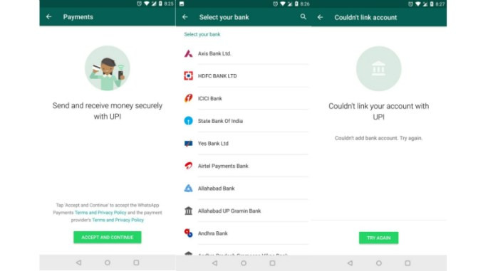 WhatsApp Payments Feature, Based on UPI, Spotted on Android and iOS