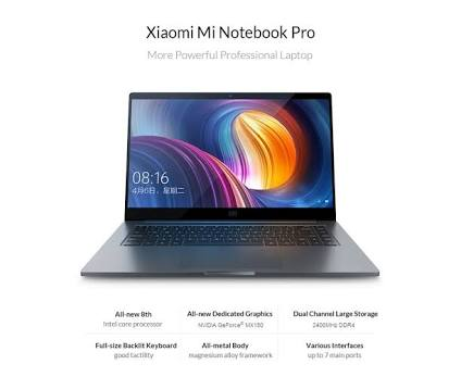 Xiaomi Mi Notebook just launched