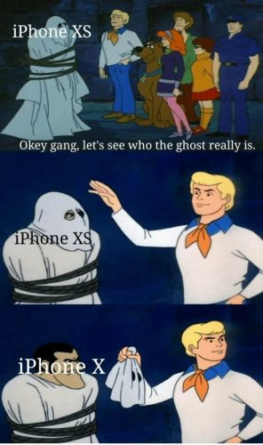 A fun Meme about the New iPhone Xs Models in the Social Networks | Microple