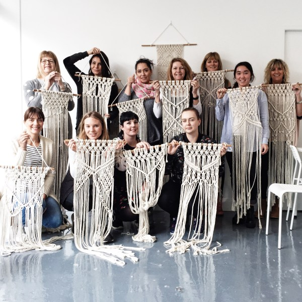 Melbourne Macrame Class The Middle Aisle Macrame Wall Hanging Macrame