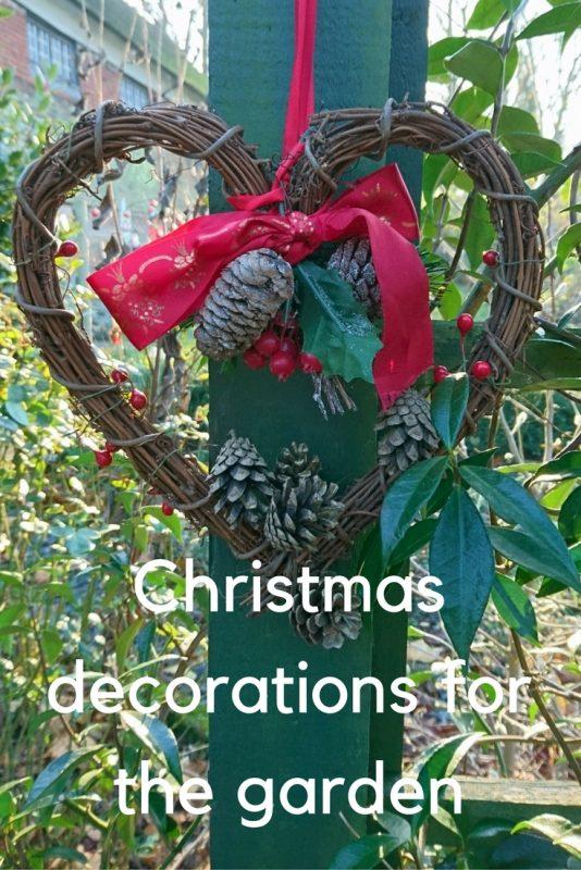 Garden Christmas decorations