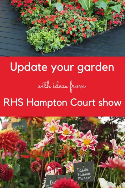 Update your garden with the latest ideas from RHS Hampton Court Flower Show #gardenideas #gardening