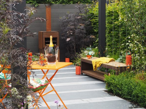 Use colour in your garden seating