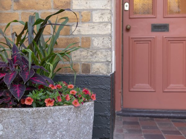 Pots by the front door