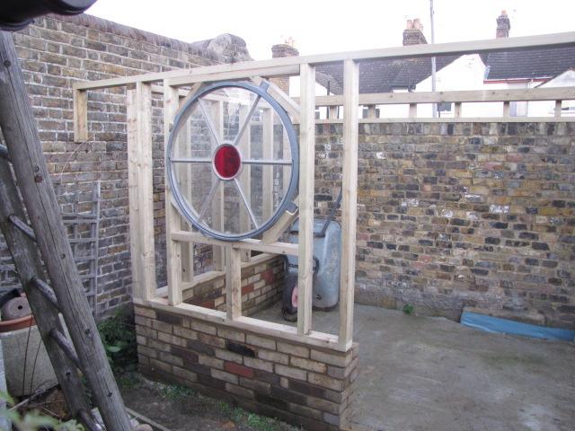 Build a unique shed - halfway through