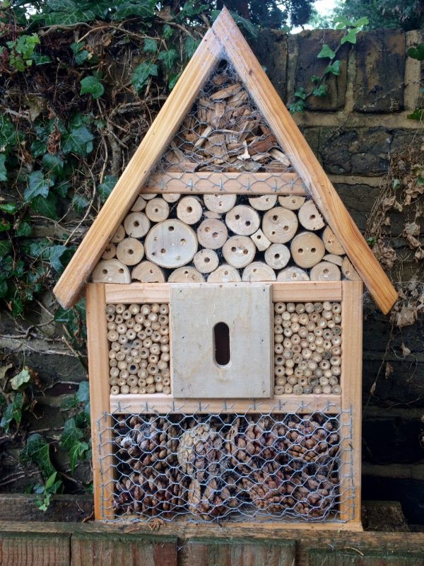 Mixed bug hotel to shelter insects