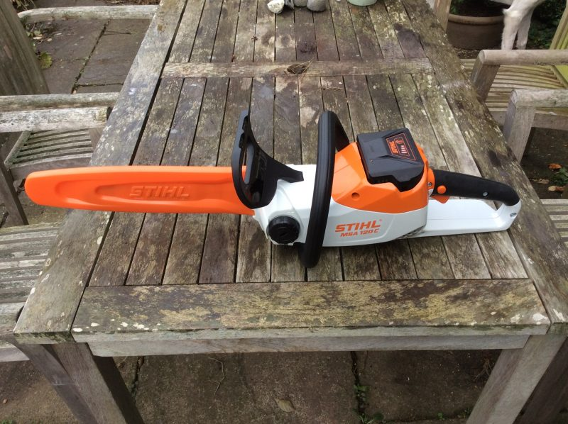 Stihl battery powered chainsaw