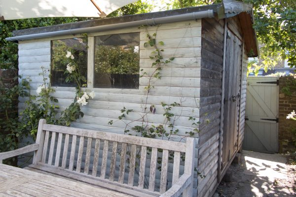 Paint your shed with a single wash for a weathered look