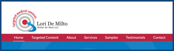 Here's my logo on my freelance website