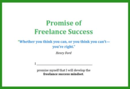 pledge of freelance success mindset