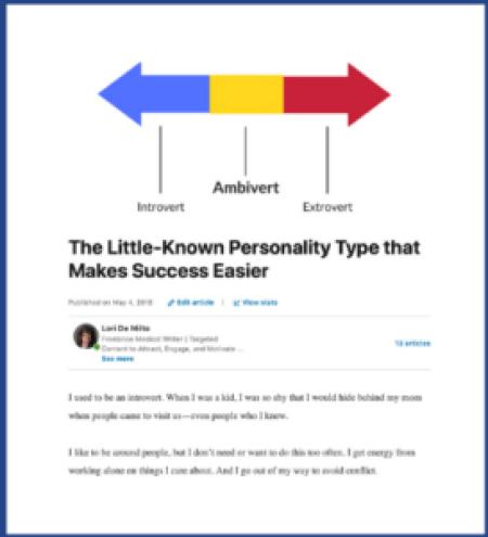 an article as LinkedIn activity