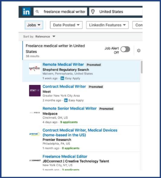 LinkedIn for freelancers jobs