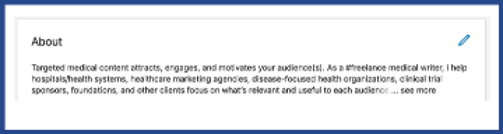 LinkedIn for freelancers about