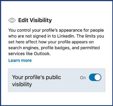 Profile visibility on LinkedIn for freelancers