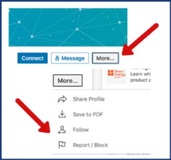 LinkedIn for freelancers follow