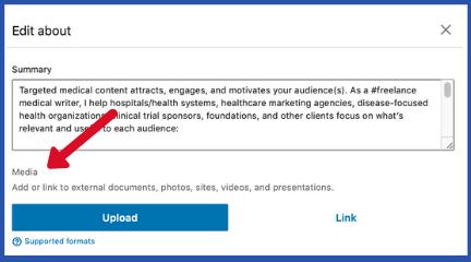 Media on LinkedIn for freelancers