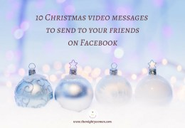 10 Christmas video messages to send to your friends on Facebook ~ The Mighty Women ~ Daniela Pesconi-Arthur