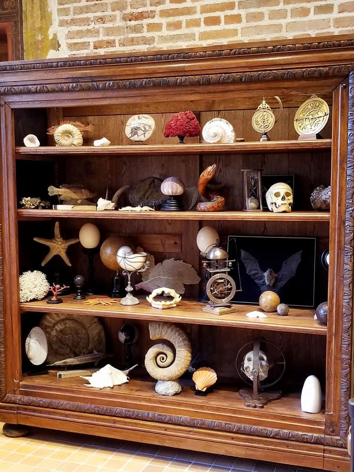 Leonardo da Vinci's cabinet of curiosities in his workshop in Amboise, France.