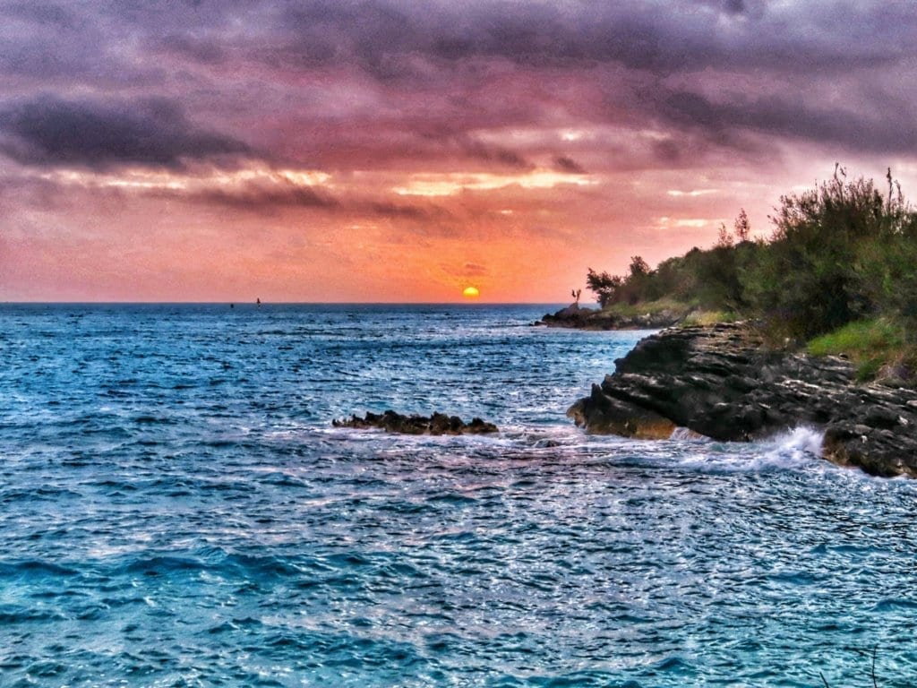 sunrise from Gates Fort in St. George's, Bermuda