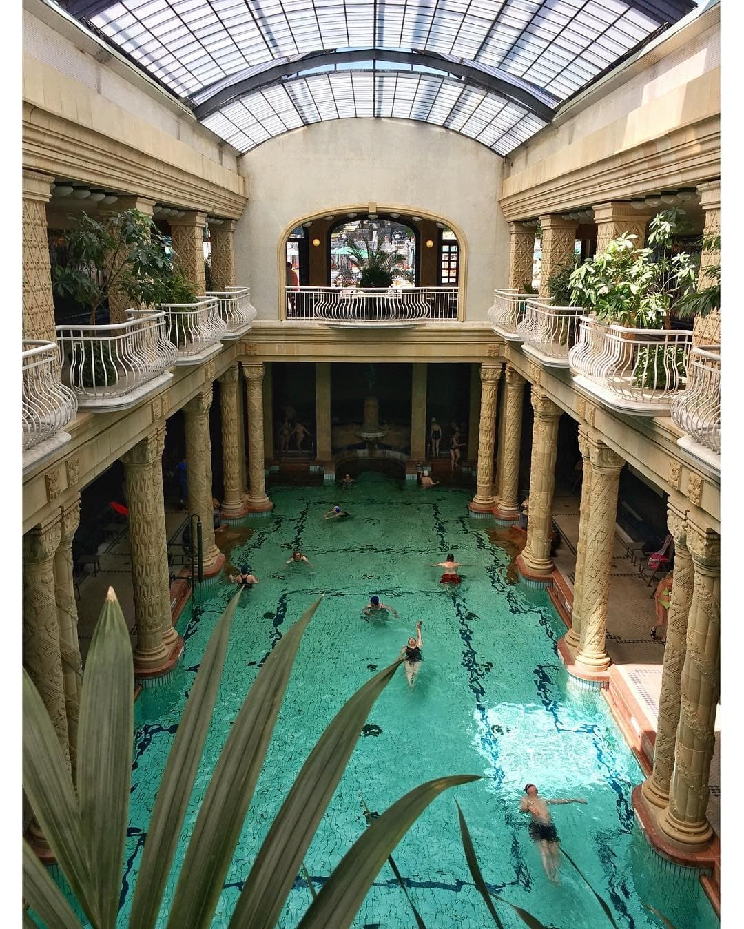 Hotel pool in Budapest