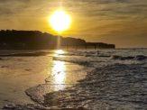 Omaha Beach with sunset