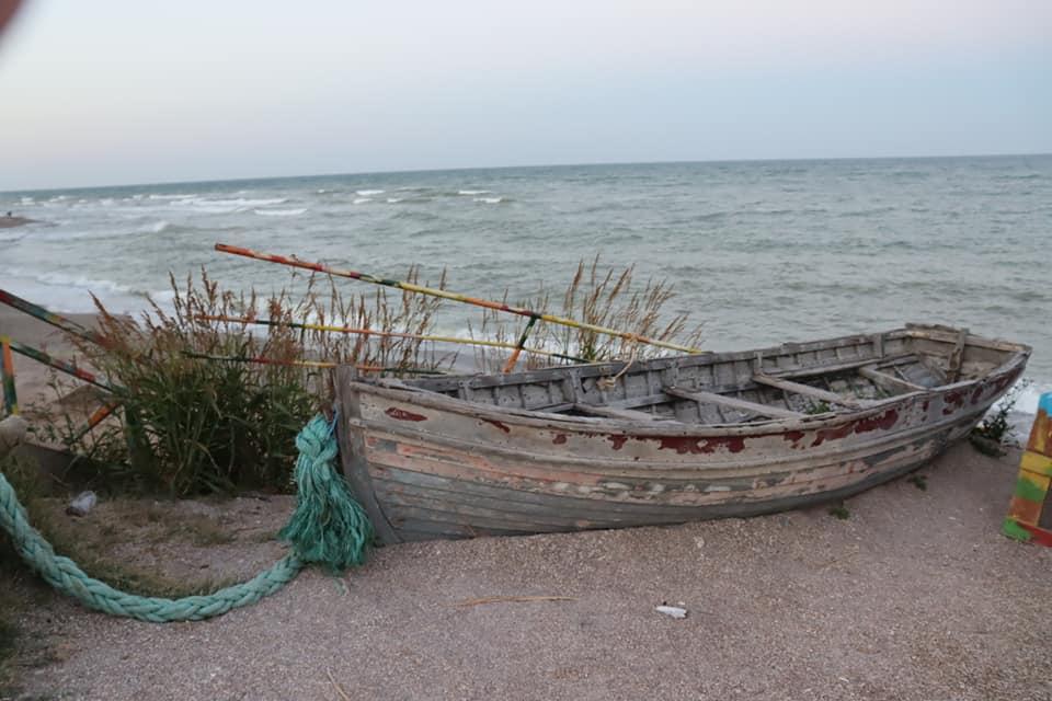 Boats on the shore of Vama Veche, Romania